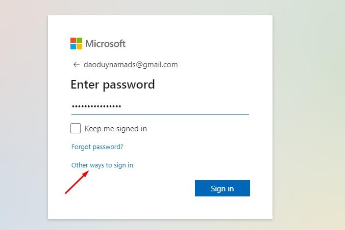Cách đăng nhập tài khoản Microsoft không cần mật khẩu chưa? 2