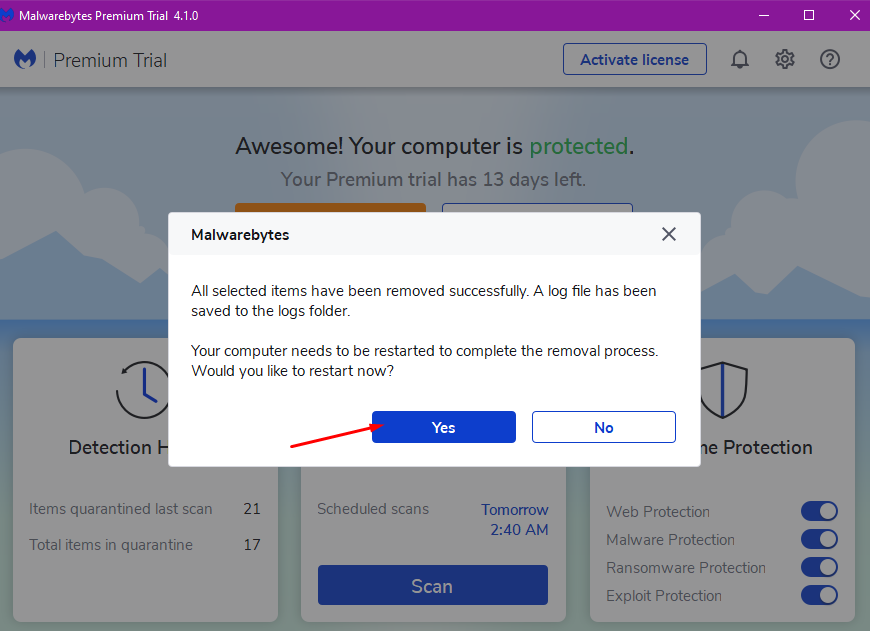 Cách dùng Malwarebytes để tìm, diệt phần mềm gián điệp, quảng cáo, độc hại... trên máy tính 16