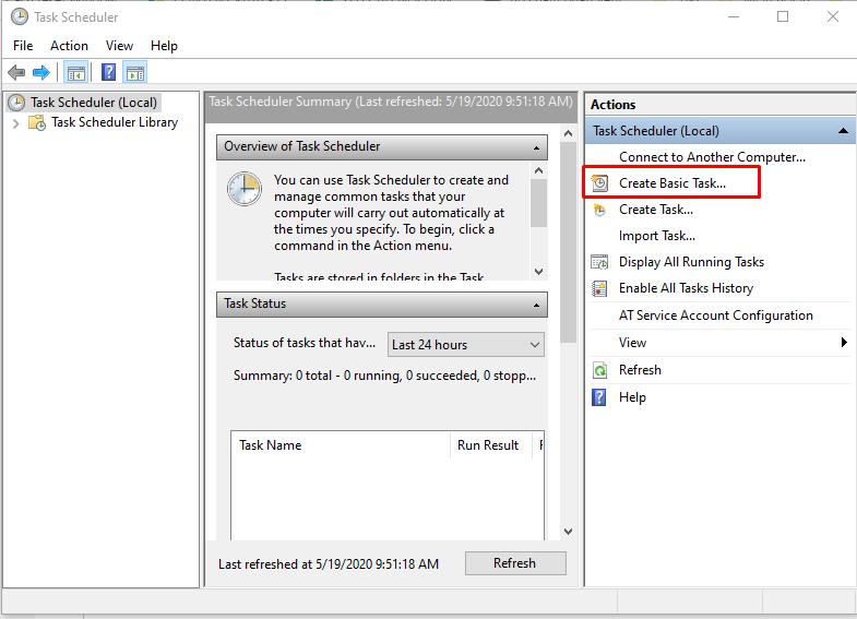 Cách hẹn giờ tắt máy tính trên Windows 10 8