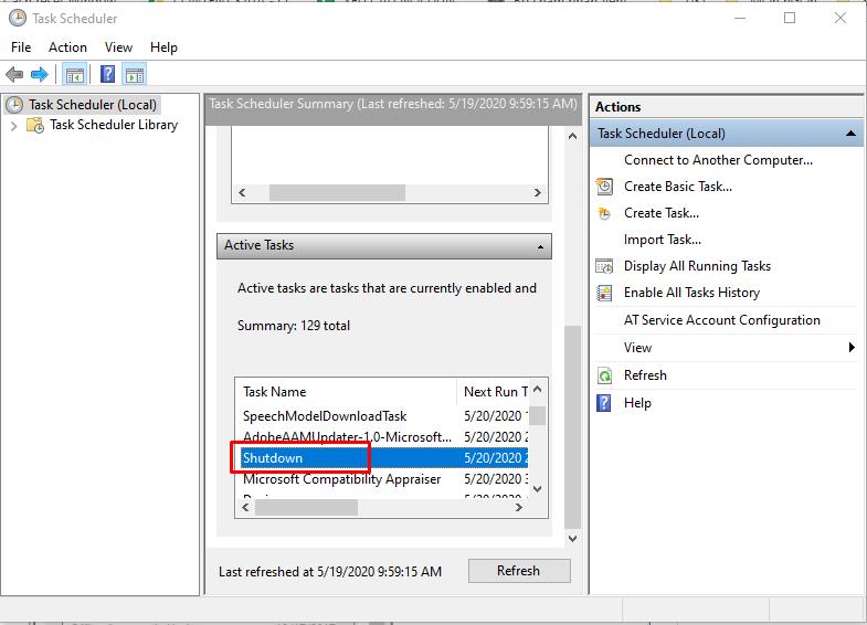 Cách hẹn giờ tắt máy tính trên Windows 10 15