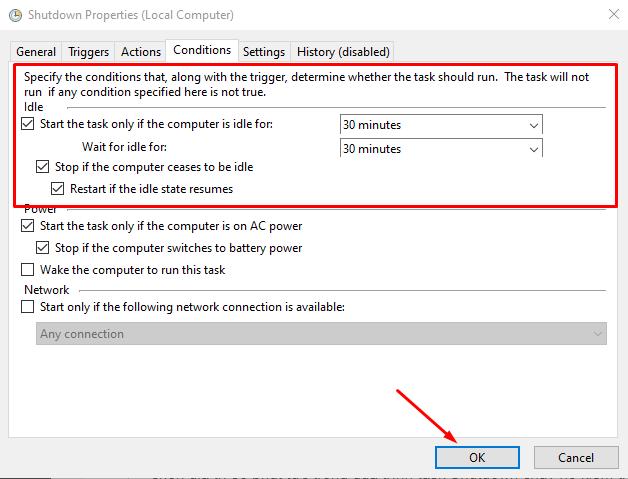 Cách hẹn giờ tắt máy tính trên Windows 10 18