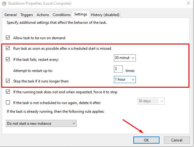 Cách hẹn giờ tắt máy tính trên Windows 10 19
