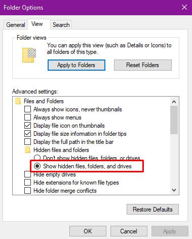 Cách hiện file ẩn và đuôi file trên Windows 10/8.1/8/7 4