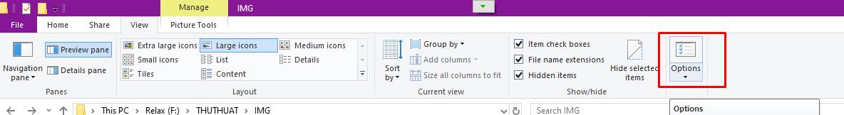 Cách hiện file ẩn và đuôi file trên Windows 10/8.1/8/7 8