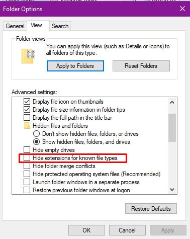 Cách hiện file ẩn và đuôi file trên Windows 10/8.1/8/7 10