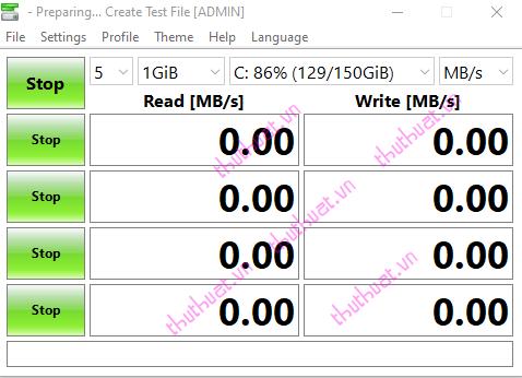 Cách kiểm tra tốc độ đọc, ghi ổ đĩa bằng CrystalDiskMark 4
