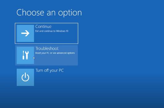Cách Reset Windows 10 từ Boot chi tiết có hình minh họa 2