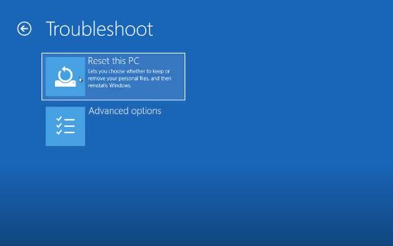 Cách Reset Windows 10 từ Boot chi tiết có hình minh họa 3