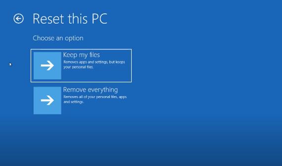 Cách Reset Windows 10 từ Boot chi tiết có hình minh họa 4