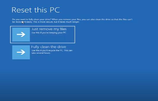 Cách Reset Windows 10 từ Boot chi tiết có hình minh họa 27