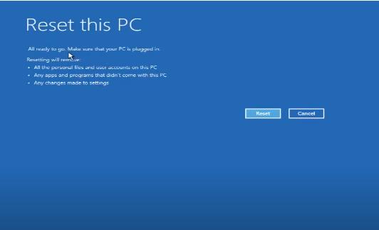 Cách Reset Windows 10 từ Boot chi tiết có hình minh họa 28