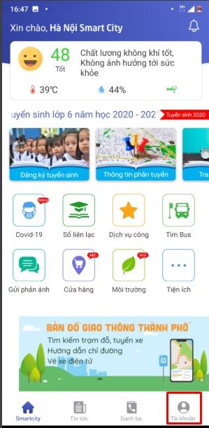 Cách sử dụng Hà Nội Smart City để theo dõi dịch Covid 19 tại Hà Nội 3