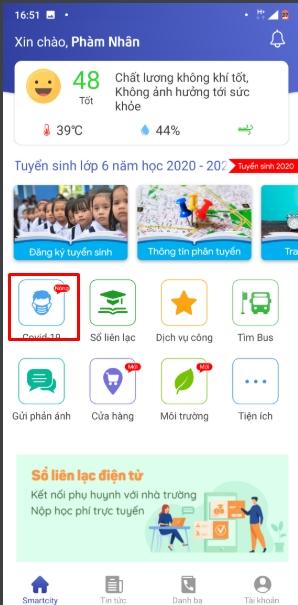 Cách sử dụng Hà Nội Smart City để theo dõi dịch Covid 19 tại Hà Nội 10