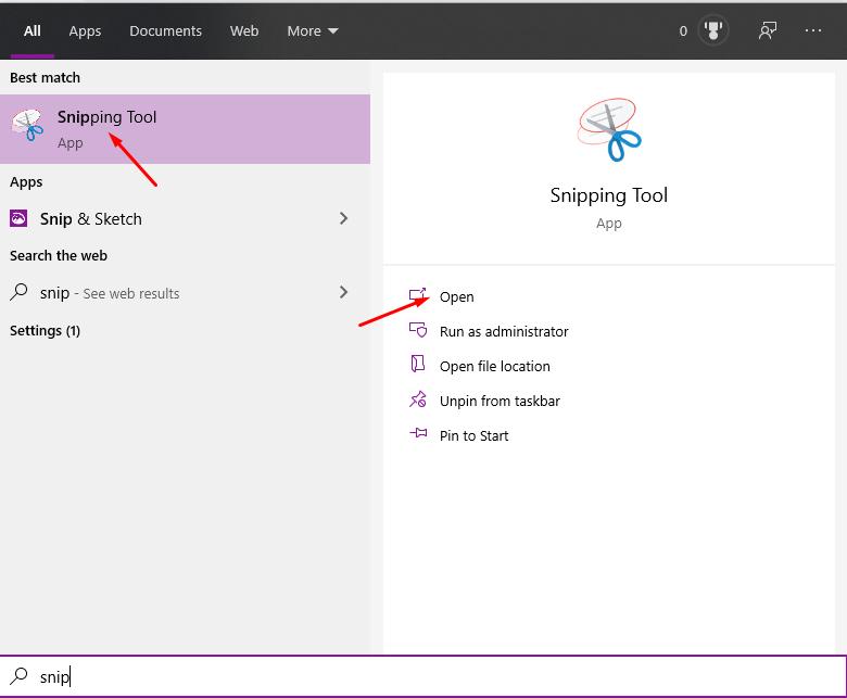 Cách sử dụng Snipping Tool trên Windows 10 toàn tập 1