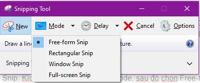 Cách sử dụng Snipping Tool trên Windows 10 toàn tập 7