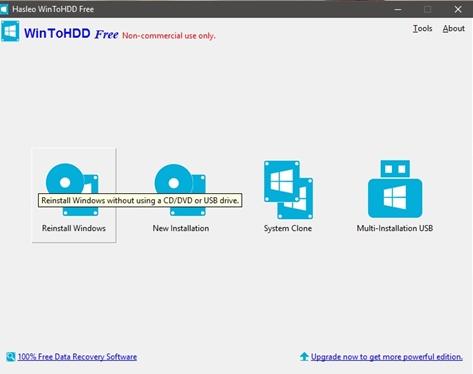 Cách sử dụng WinToHDD để cài mới lại Windows 3