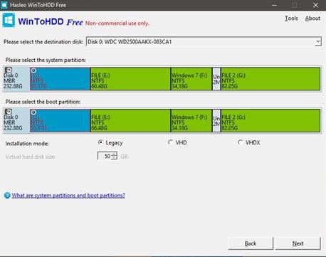Cách sử dụng WinToHDD để cài mới lại Windows 5