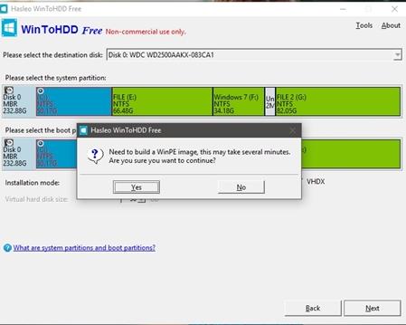 Cách sử dụng WinToHDD để cài mới lại Windows 6