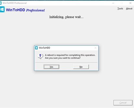 Cách sử dụng WinToHDD để cài mới lại Windows 7