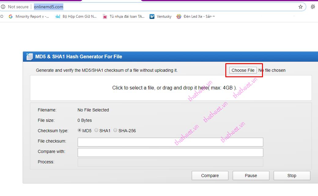 Check MD5 và SHA1 kiểm tra tính toàn vẹn của tập tin (file) 2