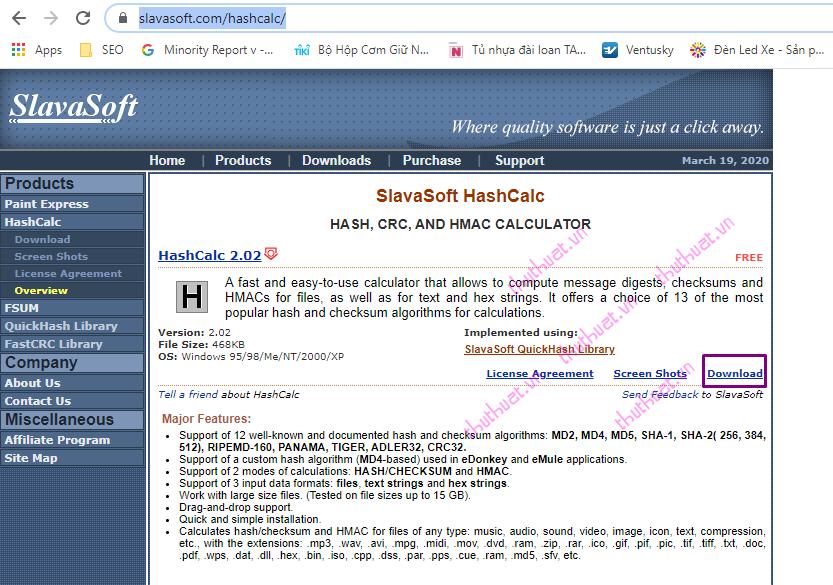 Check MD5 và SHA1 kiểm tra tính toàn vẹn của tập tin (file) 5
