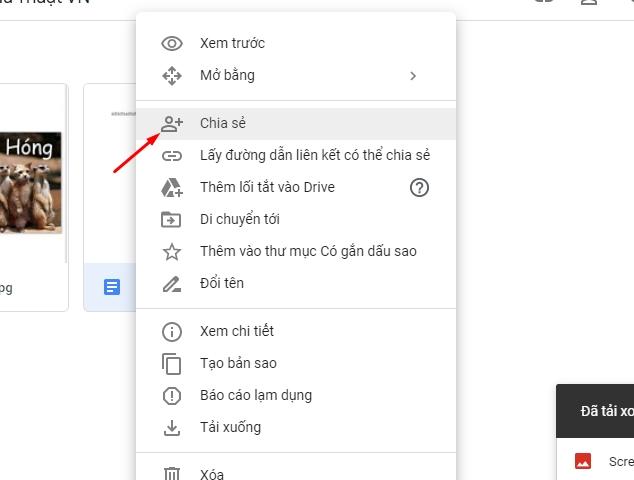 Chia sẻ và phân quyền file toàn tập trên google drive 10
