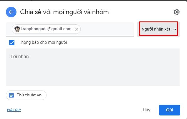 Chia sẻ và phân quyền file toàn tập trên google drive 11