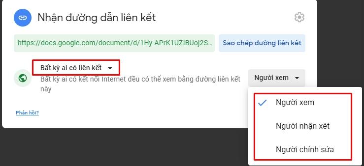 Chia sẻ và phân quyền file toàn tập trên google drive 19