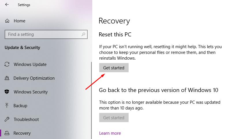 Hướng dẫn cách reset windows 10 có hình ảnh chi tiết 5