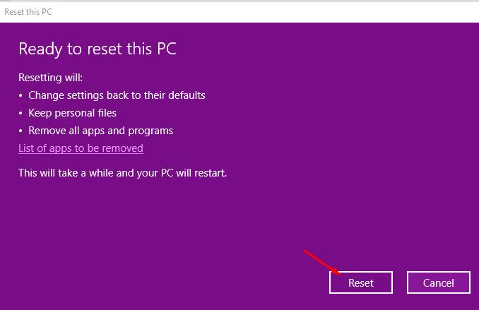 Hướng dẫn cách reset windows 10 có hình ảnh chi tiết 9
