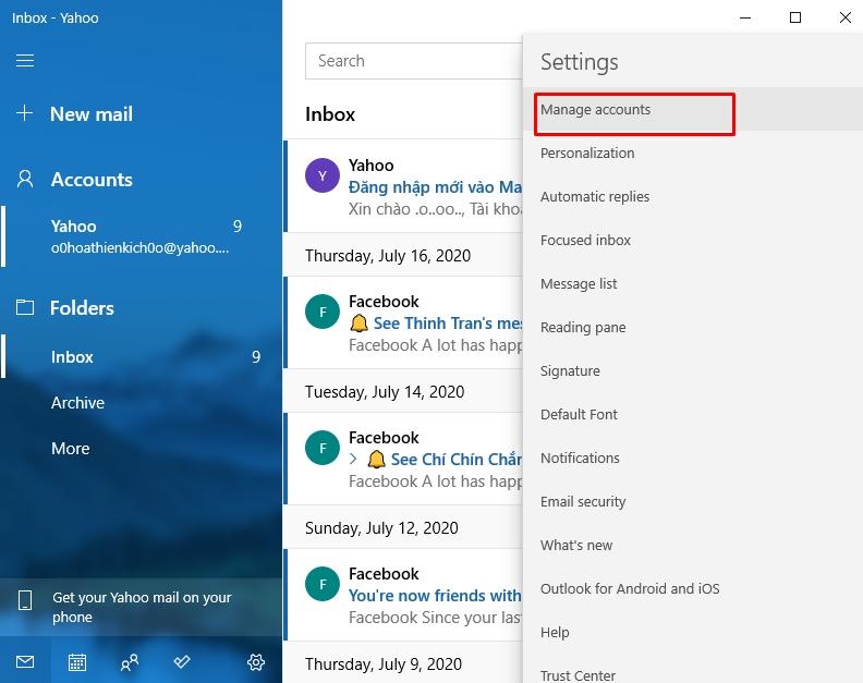 Hướng dẫn sử dụng ứng dụng Mail trên Windows 10 3