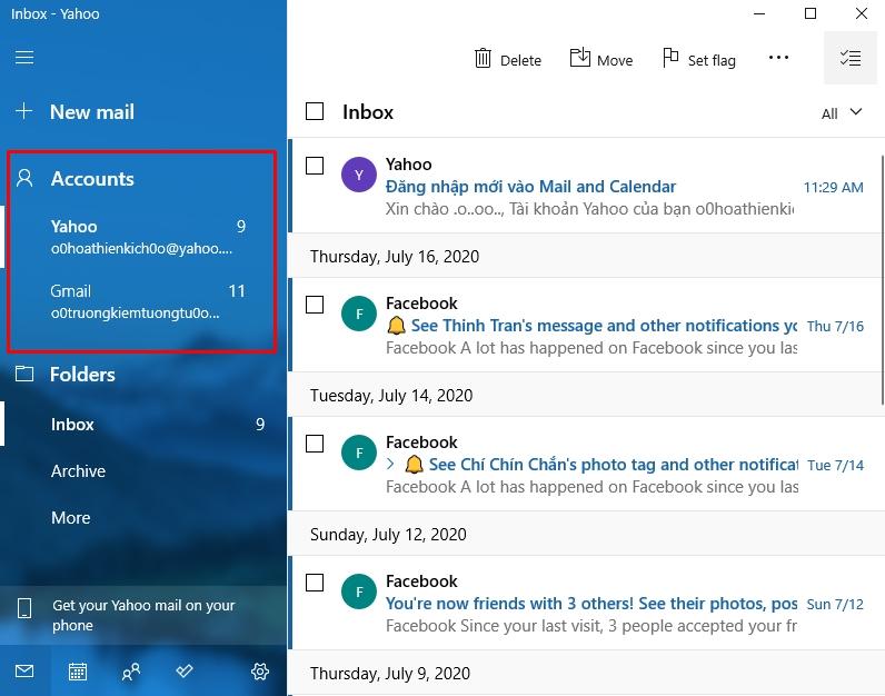 Hướng dẫn sử dụng ứng dụng Mail trên Windows 10 9