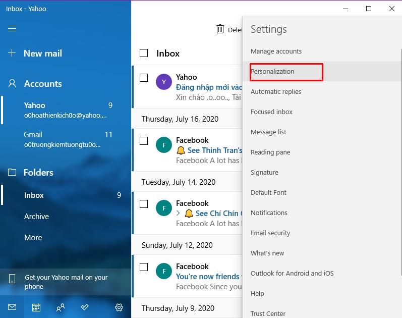 Hướng dẫn sử dụng ứng dụng Mail trên Windows 10 10