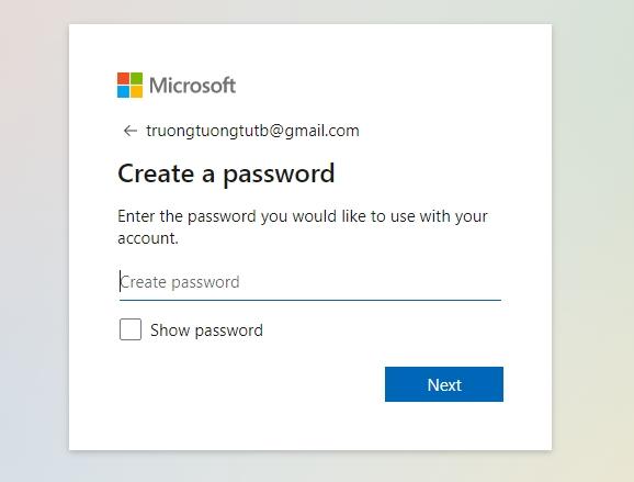 Hướng dẫn tạo tài khoản Microsoft nhanh nhất 2