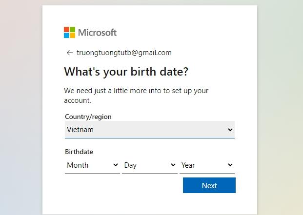 Hướng dẫn tạo tài khoản Microsoft nhanh nhất 4