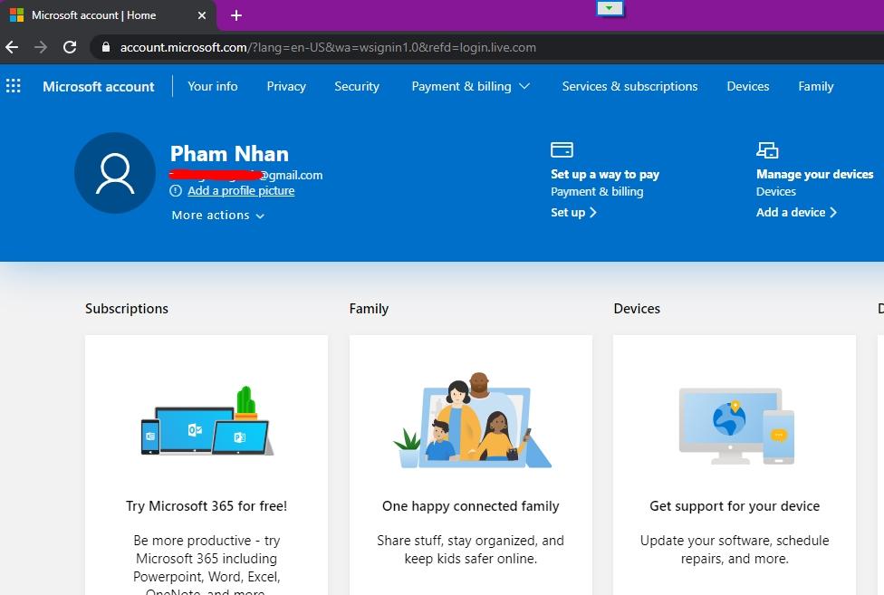 Hướng dẫn tạo tài khoản Microsoft nhanh nhất 8