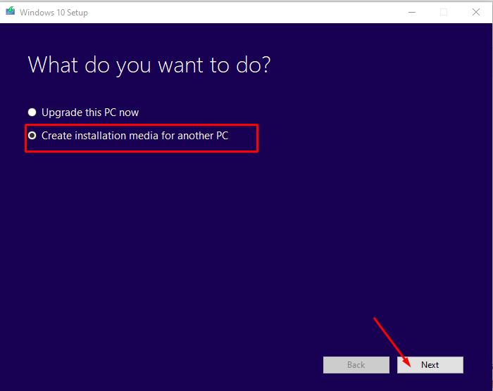 Media creation tool công cụ tải windows 10 chính hãng từ Microsoft 2