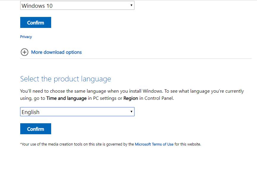 Media creation tool công cụ tải windows 10 chính hãng từ Microsoft 17