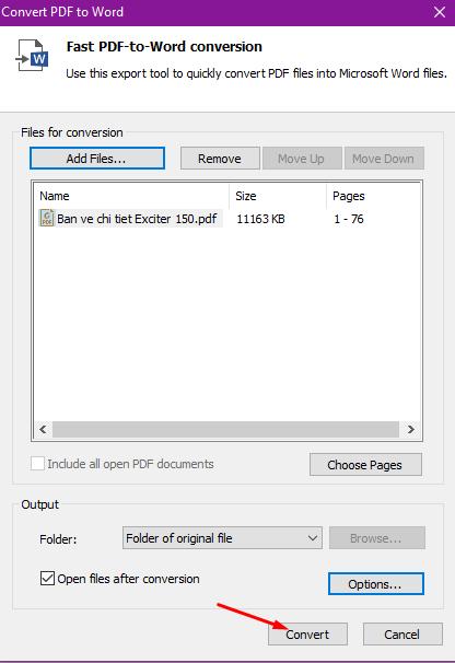 Phần mềm chuyển đổi/convert PDF sang word không lỗi font tốt nhất 3