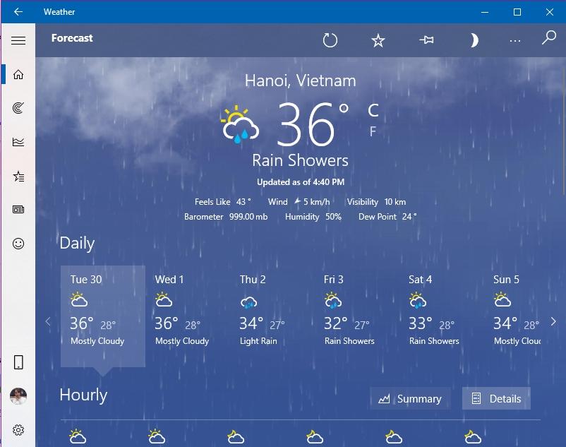 Top 5 phần mềm dự báo thời tiết tốt nhất cho máy tính 2